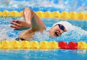 A nadadora chinesa Jianjiahe Wang